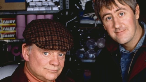 David Jason (left) and Nicholas Lyndhurst as Del and Rodney Trotter