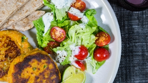 Curried Chickpea & Sweet Potato Burger