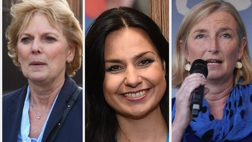Anna Soubry (L), Heidi Allen and Sarah Wollaston quit over the handling of Brexit