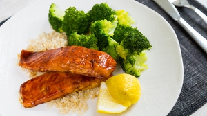 Peggy's Soy Salmon with Rice