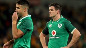 Conor Murray (L) and Jonathan Sexton