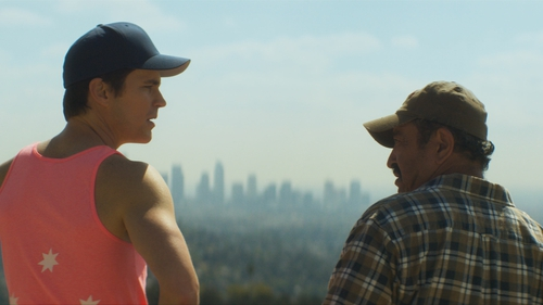Matt Bomer and Alejandro Patiño in Papi Chulo