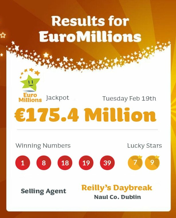 Dream come true' - Family claims €175m jackpot