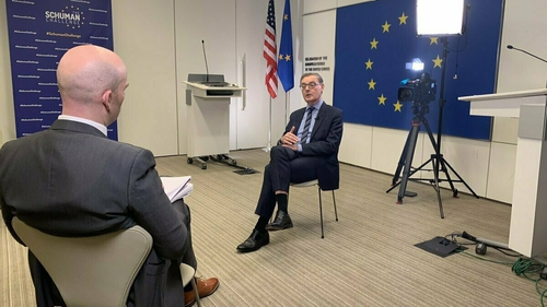 EU Ambassador to the US David O'Sullivan spoke to Brian O'Donovan