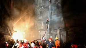 More than 200 firefighters responded to the incident