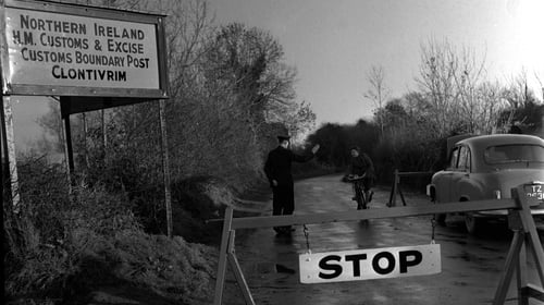 The customs post at Clontivrim, Co Monaghan in December 1955. Photo: Popperfoto/Getty Images