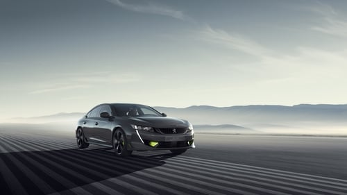 The performance version of Peugeot's new 508 has a petrol engine and two electric motors.
