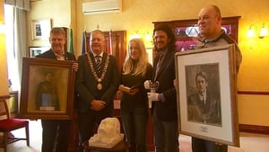 Paul Moynihan of Cork City Council, Lord Mayor Michael Finn, Deborah Dowdall, Dan Breen of Cork Public Museum, and Tom Dowdall