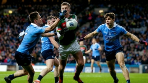 Action from the 2017 league clash between Dublin and Mayo