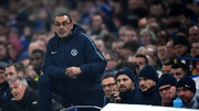 Chelsea manager Maurizio Sarri during his side's defeat to Manchester United