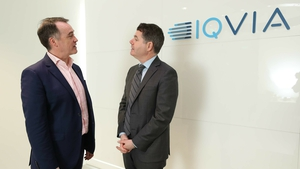 IQVIA country head for Ireland Martin Giblin and Minister for Finance Paschal Donohoe