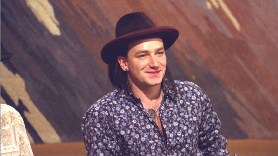 Bono on 'The Late Late Show' 1986
