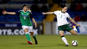 Campbell (r) in action against Northern Ireland