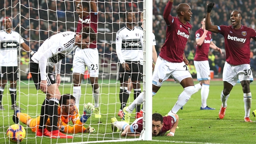 Javier Hernandez equalised with controversial goal