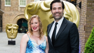 Rob Delaney with his wife Leah