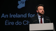 Colum Eastwood addressed Fianna Fáil delegates at the party's Ard Fheis in Dublin