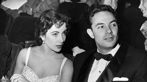 Stanley Donen pictured with Elizabeth Taylor
