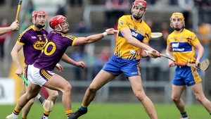 Clare's Ian Galvin and Lee Chin of Wexford
