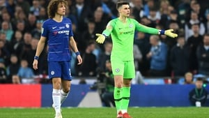 Kepa Arrizabalaga refused to leave the pitch in the Carabao Cup final