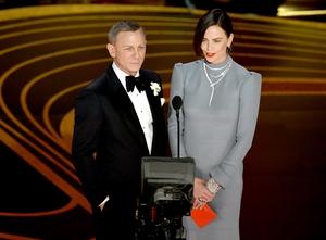 Daniel Craig was typically sleek in a black Tom Ford creation
