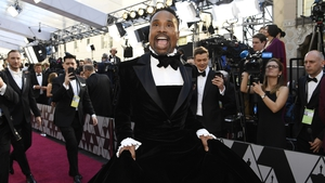Billy Porter stuns in a Christian Siriano tuxedo-gown hybrid.