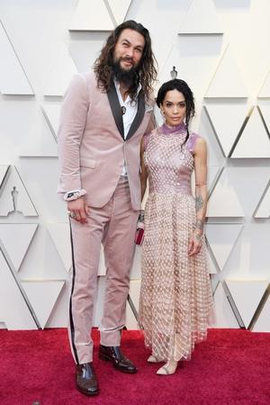 Jason Mamoa pushed boundaries in a blush pink velvet Fendi suit