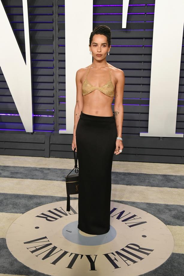 Zoe Kravitz attends the 2019 Vanity Fair Oscar Party