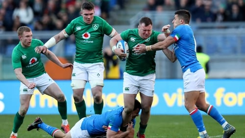 Dave Kilcoyne made his first start in the Guinness Six Nations against Italy