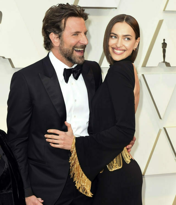Bradley Cooper and Irina Shayk arrive at the Oscars (Jordan Strauss/AP)