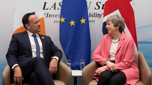 Leo Varadkar met the British Prime Minister on the margins of the summit