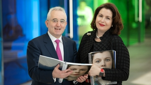 Andrew Keating, Bank of Ireland's CFO and Francesca McDonagh, Bank of Ireland's Group CEO at the launch of the bank's 2018 results