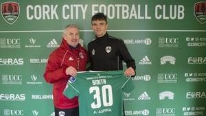 John Caulfield with Dan Smith. Photo: Cork City FC