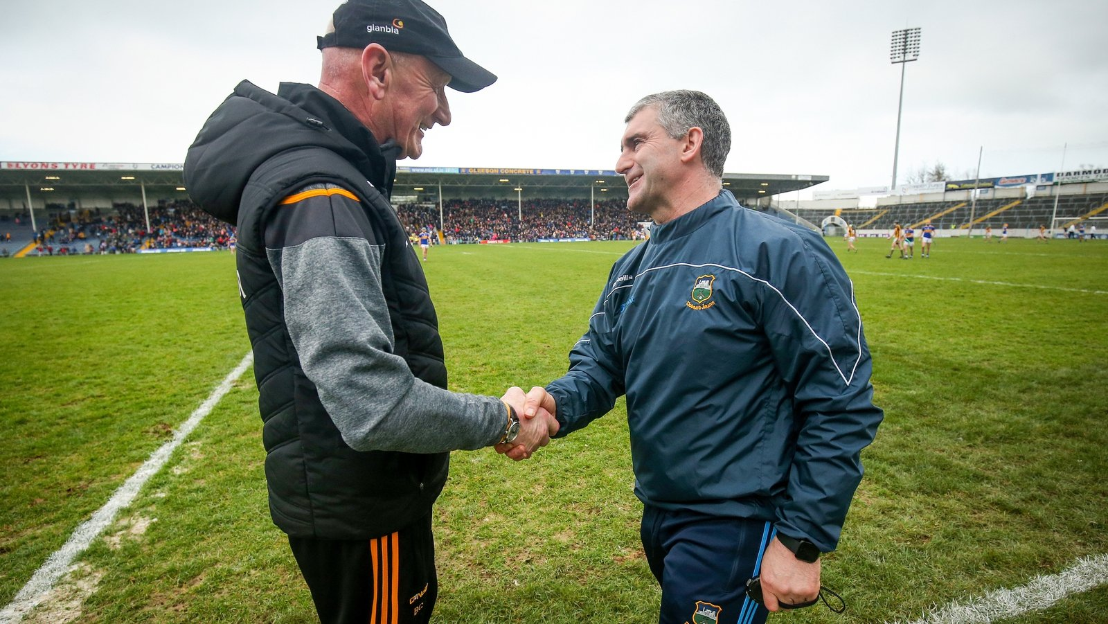 Image - Liam Sheedy and Brian Cody renewed acquaintance during the Allianz Hurling League