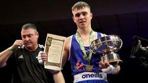 David Oliver Joyce with his Elite trophy at the recent Nationals