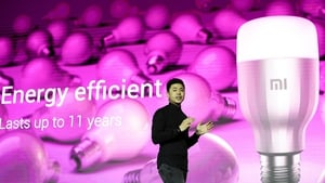 China's Xiaomi presented a new connected light bulb - the Mi LED Smart Bulb - at this year's MWC in Barcelona
