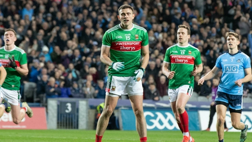 Doherty reacts to seeing his penalty saved against Dublin