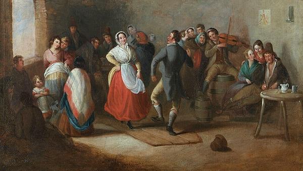 A Wedding Dance (1848) by Daniel MacDonald. Photo: Crawford Art Gallery, Cork
