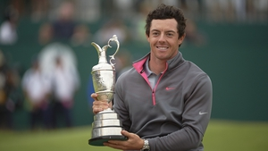 McIlroy with the claret jug at Hoylake in 2014