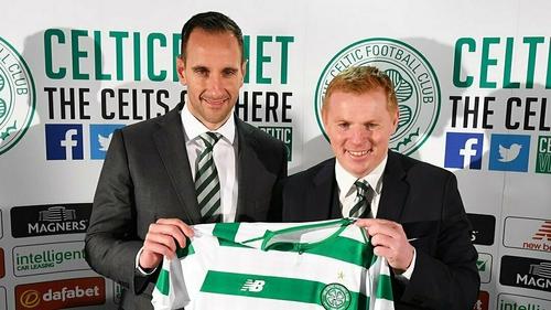 Kennedy and Lennon (credit Celtic Football Club)