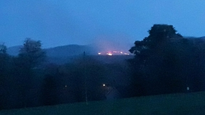 Wicklow Fire Brigade requested assistance from the Air Corps this morning