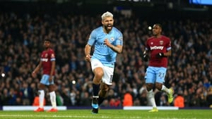 Sergio Aguero claimed the only goal of the game at the Etihad Stadium