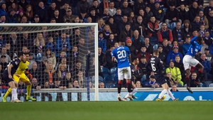 Glen Kamara shoots and scores against Dundee