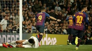 Luis Suarez opened the scoring at the Santiago Bernabeu