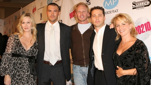 Together again (L-R) Jennie Garth, Brian Austin Green, Ian Ziering, Jason Priestley, Gabrielle Carteris