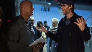 Dwayne 'The Rock' Johnson and Stephen Merchant on the set of Fighting With My Family