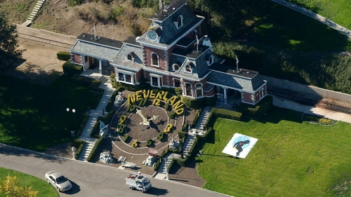 An aerial view of singer Michael Jackson's Neverland Valley Ranch