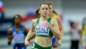 Healy in action in Glasgow.