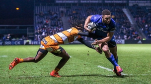 Adam Byrne scores Leinster's second try