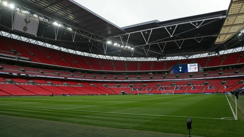 An empty Wembley Stadium will host the game