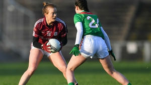 Sarah Conneally of Galway in action against Róisín Durkin of Mayo